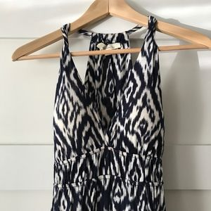 Forever 21 Navy White Ikat Casual Maxi Dress